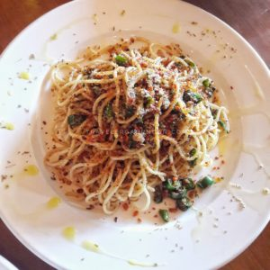 Spaghetti Ikan Asin Cabe Ijo Rp. 49k