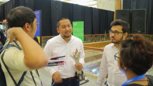 Meidy Fitranto dan Faris Rahman saat diwawancara dengan Mas Timo dan Mbak Langit (Foto by: Timo)